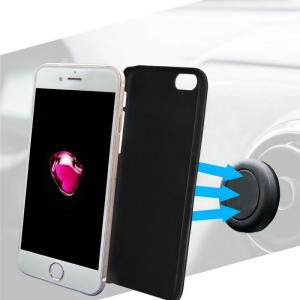 AZURI Etui + uchwyt sam. magnetyczny iPhone 7 czarny