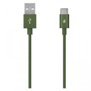 TTEC kabel aluminiowy USB-C 2.0 khaki