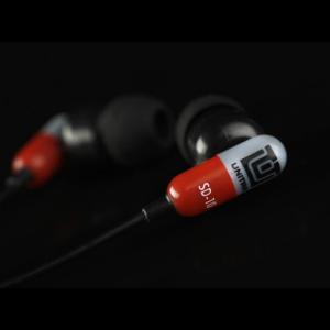 UNITRA SD-10SZ Słuchawki douszne czerwono-srebrne
