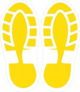 Naklejka - Ślad butów - Stopy  - 31 cm