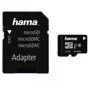 Karta pamięci hs gold microsdhc 16gb uhs-i 80mb /s c10/foto