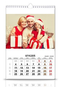 Kalendarz 13 stronicowy a3 z twoimi zdjęciami pion i poziom