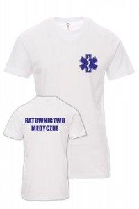 Koszulka biała - znakowanie - RATOWNICTWO MEDYCZNE
