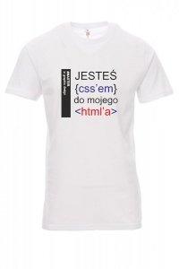 Koszulka biała - jesteś css do moje htmla