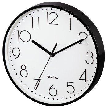 Czarny zegar ścienny PG-220