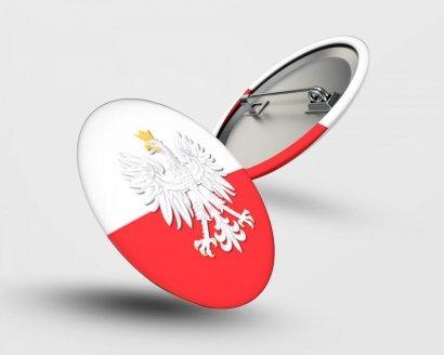 Button z przypinką Narodowe Święto Niepodległości - Studioix.pl