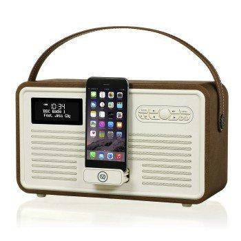 Retro mk ii dab+ radio ze stacją dokującą apple brązowe