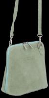 Vittoria Gotti Kožená kabelka listonoška Světle Zelená