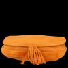 Vittoria Gotti Kožená kabelka listonoška Oranžová