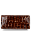 Elegantní Lakovaná Kožená Kabelka Kufřík s motivem aligátora Vittoria Gotti Made in Italy Hnědá