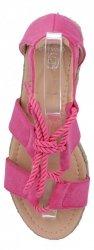 Fuksjowe sandały damskie espadryle na platformie firmy Givana