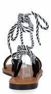 Czarne modne sandały damskie firmy Givana