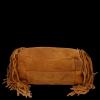 Modne Torebki Skórzane Shopper Bag z Frędzlami firmy Vittoria Gotti Ruda