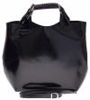 Torebka skórzana Shopperbag z kosmetyczką Czarna