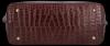 Vittoria Gotti Klasyczne Torebki Skórzane XL we wzór Aligatora Bordowa