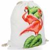 Plecaczki Damskie Praktyczny Worek w modny wzór flaminga Biały