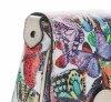 Modne Włoskie Torebki Listonoszki Skórzane we wzór Motyli Beżowa