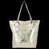Modne Torebki Skórzane Włoski Shopper Bag firmy Vittoria Gotti Złota
