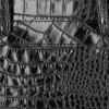 Vittoria Gotti Klasyczne Torebki Skórzane we wzór Aligatora Aktówka A4 Czarna