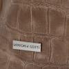 Vittoria Gotti Uniwersalna Torebka Skórzana w modny motyw żółwia Ziemista