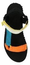 Pomarańczowe modne sandały damskie firmy Bellucci