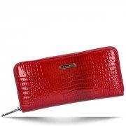 Lorenti Elegantní Dámská Kožená Peněženka s motivem aligátora červená