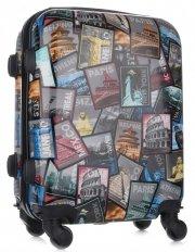 Palubní kufřík Or&Mi Poštovní známky 4 kolečka Multicolor
