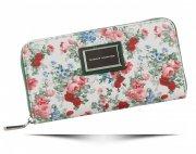 Dámská Peněženka XL Diana&Co vzorek v květinách Multicolor Zelená