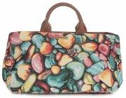 Univerzální kožená italská kabelka Vittoria Gotti jablko s hruškou multicolor