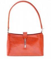 Kožené kabelky klasické a elegantní zrzavá