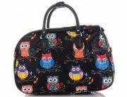 Malá cestovní taška kufřík Or&Mi vzor v sovy Multicolor - černá