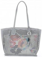 Univerzální Dámské kabelky s kosmetikou David Jones ažurová Šedá