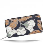 Dámská Peněženka XL David Jones vzorek v květinách Multicolor Šedá