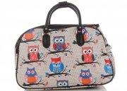 Malá cestovní taška kufřík Or&Mi vzor v sovy Multicolor - Béžová