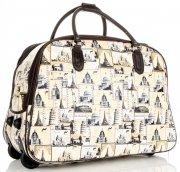 Cestovní taška na kolečkách s výsuvnou rukojetí Or&Mi Monument Béžová