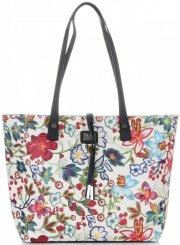 Dámské kabelky v květinovém vzoru David Jones s kosmetikou Bílá