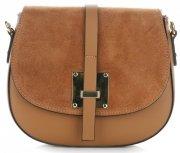 Elegantní kožená kabelka listonoška zrzavá