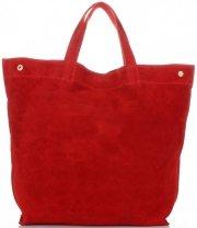 Univerzální Dámské kabelky ShopperBag XL Vera Pelle červená