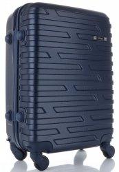 Módní Palubní kufřík Or&Mi 4 kolečka tmavě modrá