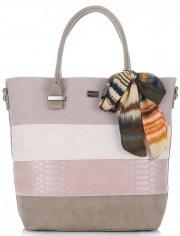 Dámská kabelka kufřík David Jones Růžová