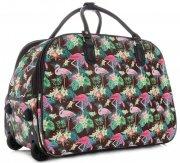 Cestovní taška na kolečkách s výsuvnou rukojetí plameňáci Or&Mi multicolor Hnědá