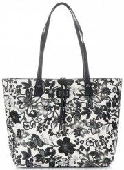 Dámské kabelky v květinovém vzoru David Jones s kosmetikou Šedá