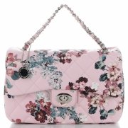 Prošívaná Kabelka Listonoška květinový vzor Diana&Co Multikolor Růžová