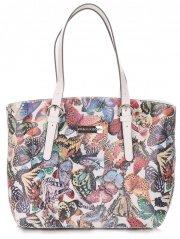 Dámská kabelka kožená kufřík VIttoria Gotti Multicolor Bílá