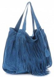 Dámské kabelky Vittoria Gotti Univerzální XL Boho Modrá Jeans