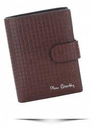 Pierre Cardin Pánská kožená peněženka hnědá