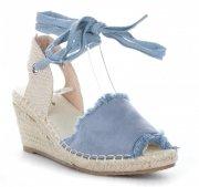 Dámské boty na platformě modré