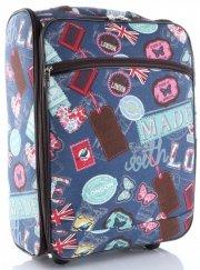 Palubní kufřík značky Or&Mi Butterflies&Stamps multicolor tmavě modrá