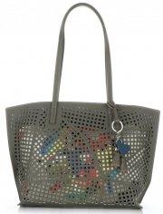 Univerzální Dámské kabelky s kosmetikou David Jones ažurová Khaki