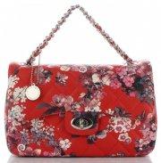Prošívaná Kabelka Listonoška květinový vzor Diana&Co Multikolor Červená